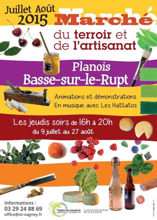 Affiche Marché du terroir et de l'artisanat 2015