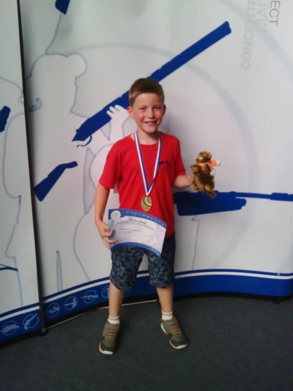 Yohan Christ champion individuel en poussins.