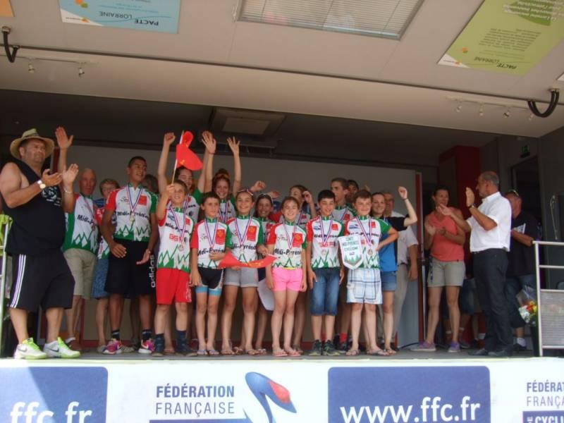 Midi-Pyrénées termine le podium à la 3ème place