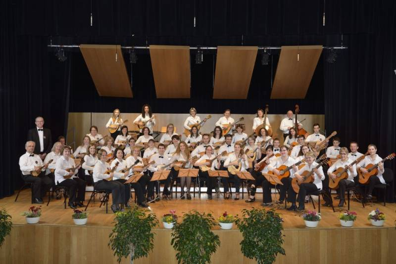 Photo orchestre des mandolines