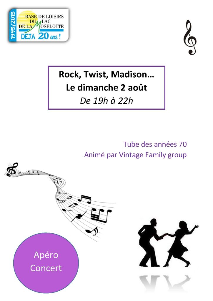 Rock, twist, madison du 2 août