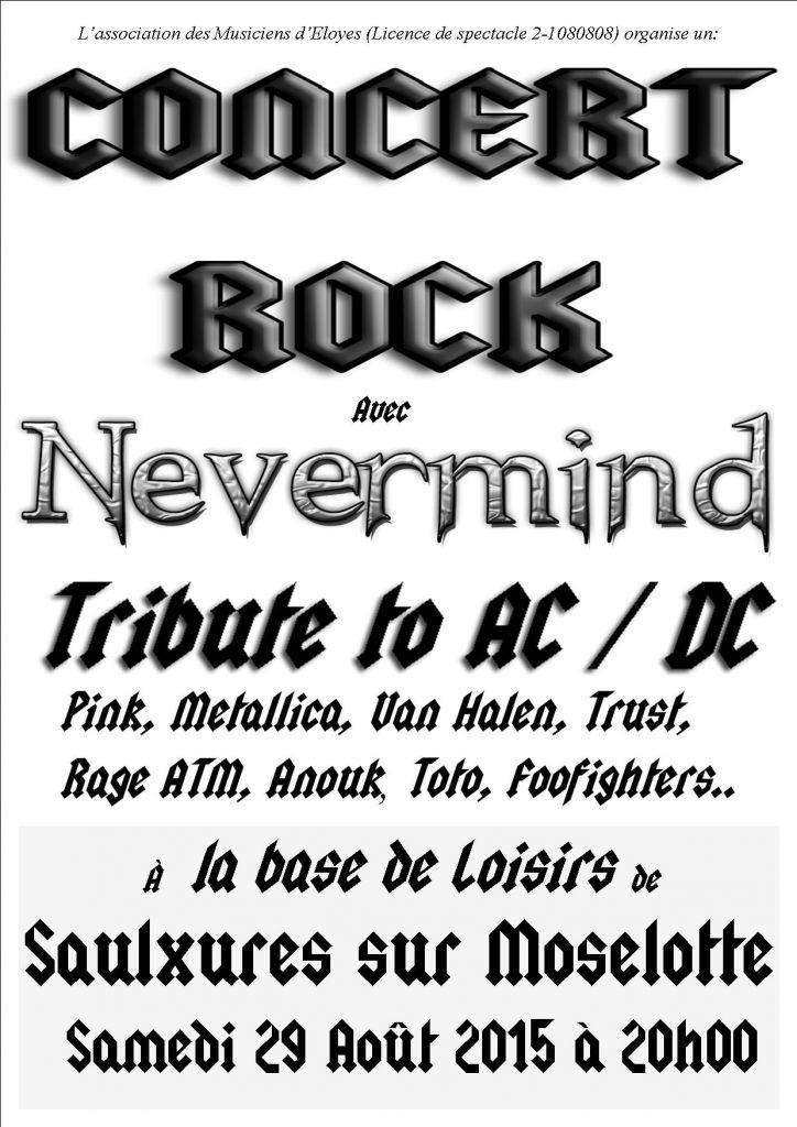 01-2015--Affiche concert Never Mind à la base Saulxures- 29-08-2015