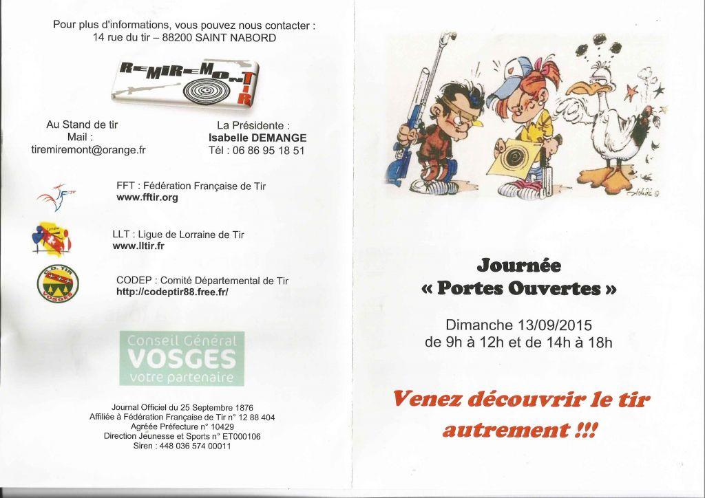 PORTES OUVERTES 2015 STAND DE TIR