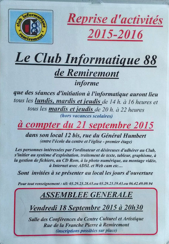 affiche club informatique 2