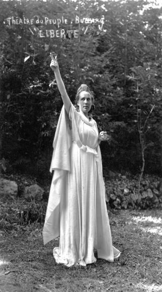 La Liberté, dans la pièce du même nom de Maurice Pottecher (dans le rôle de Liberté, Marguerite Vannson, une des actrices de Bussang les plus marquantes dans l'histoire du Théâtre).