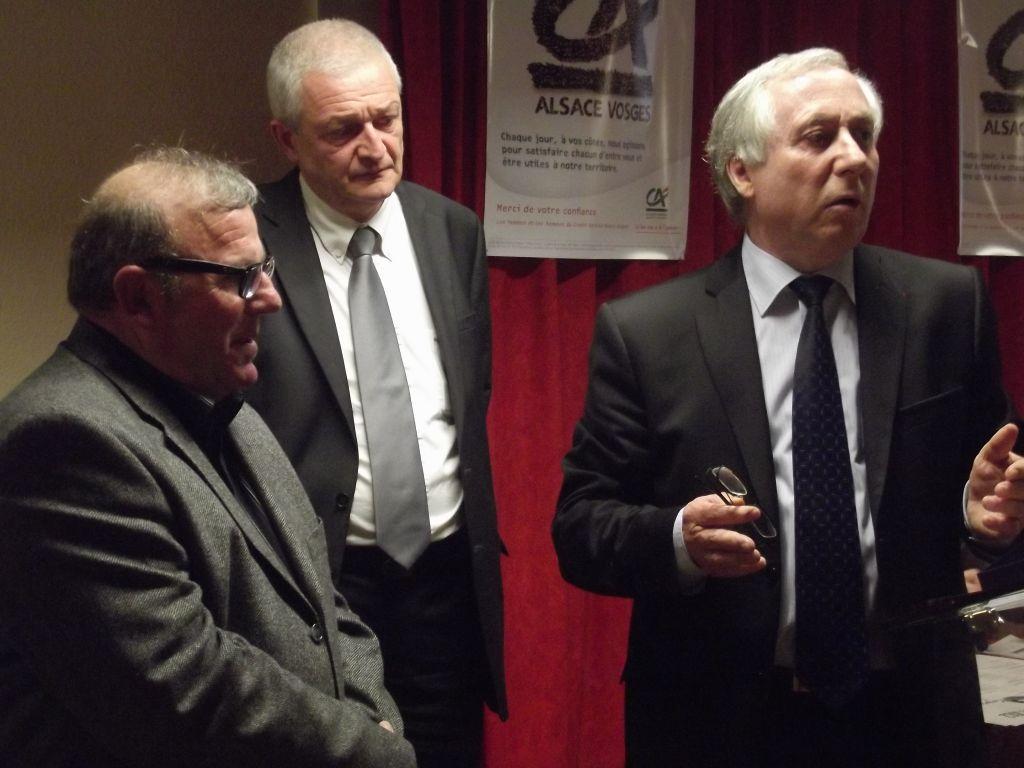 Jean-Marie Sander, à droite sur ce cliché, en 2012 à Saulxures-sur-Moselotte.