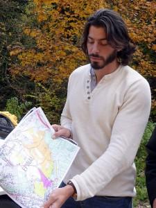 Philippe Lavit de la fédération départementale des chasseurs des Vosges présente le secteur concerné.
