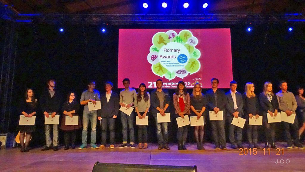 Les Mentions Très Bien au baccalauréat lors de la soirée des Romary Arwards