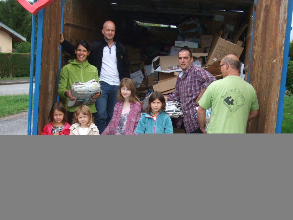 Lors de la 1ère collecte de l'année 2015-2016