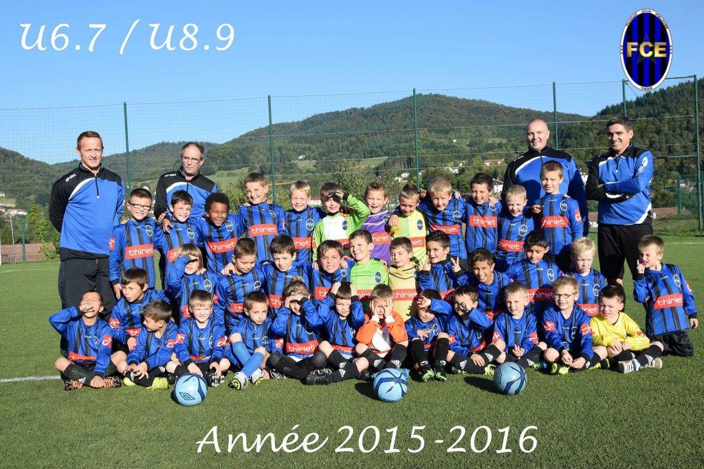L'équipe des U6-U9 du FC Eloyes.