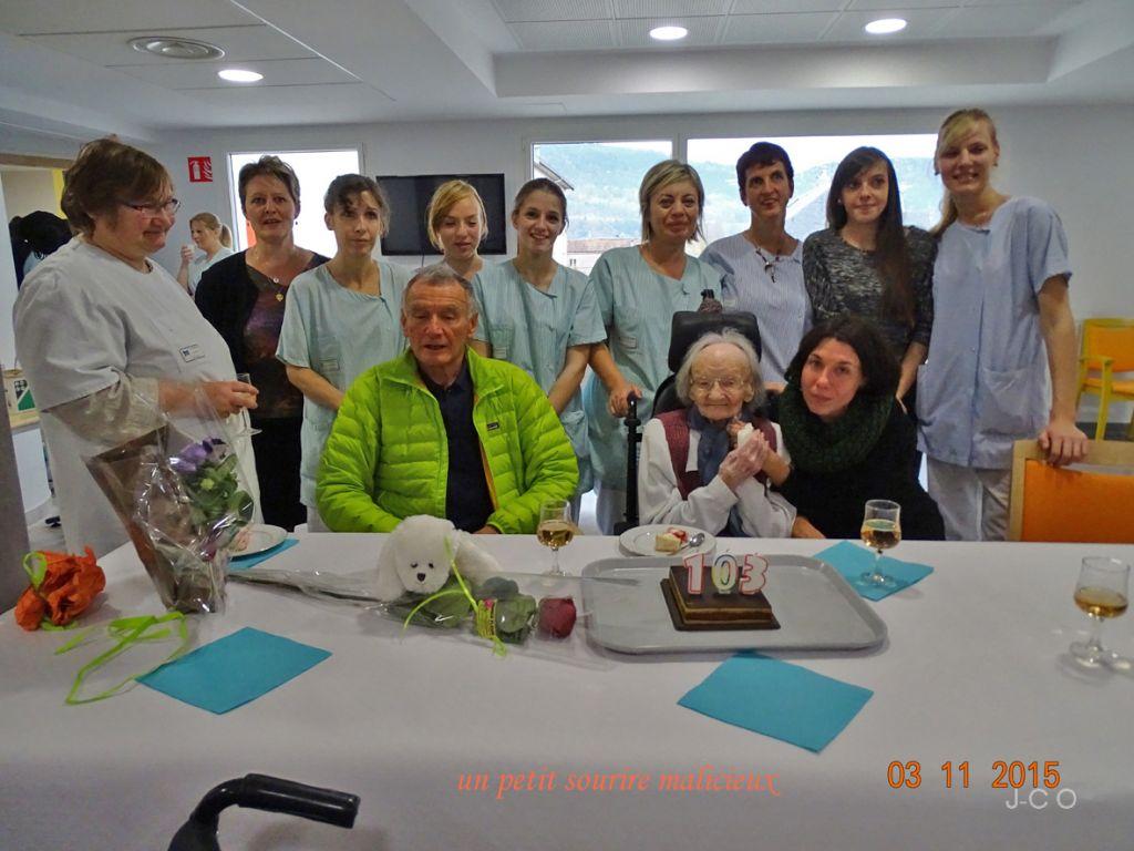 les 103 ans d'une résidente Léon Werth (7)