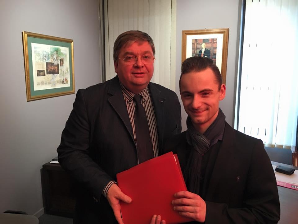 Cédric Delacote avec le député François Vannson en janvier dernier.