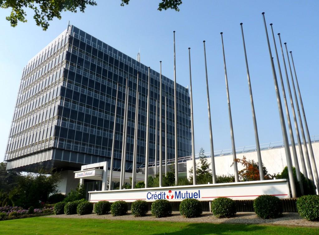 Le siège du Crédit Mutuel au Wacken à Strasbourg (Photo Wikimedia Commons / cc).