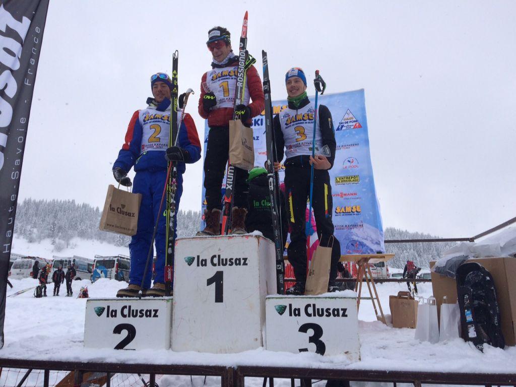 Gaël Epp (SC Ranspach) sur la troisième marche du podium ce dimanche.