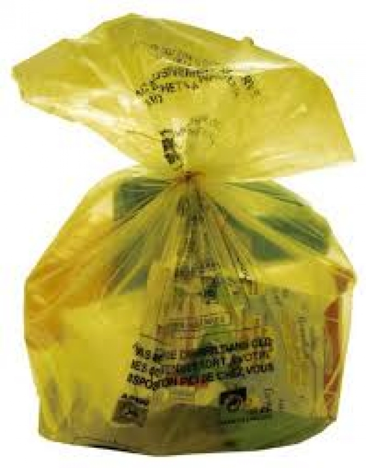 Les sacs jaunes collectés le lundi à la 1ère heure