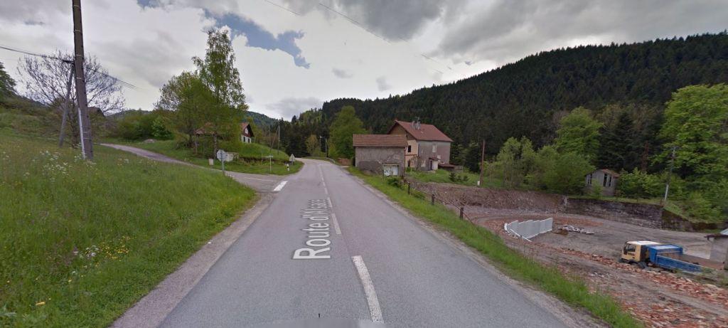 Le début du chemin du Rupt-sur-Moulin en montant vers le col d'Oderen.