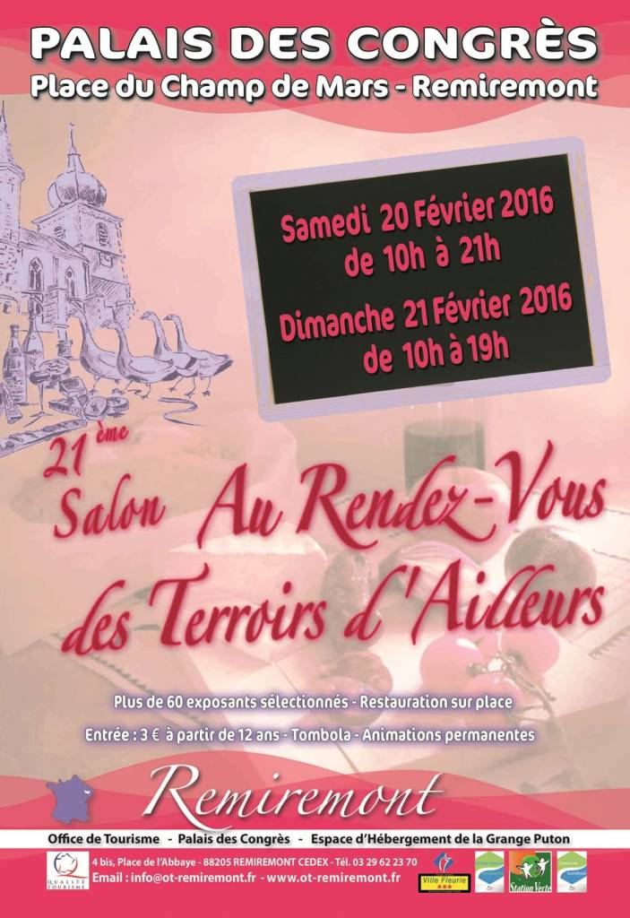 Affiche 21è Salon Terroirs Remiremont 2016