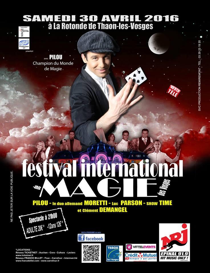 Affiche Festival International de Magie des Vosges