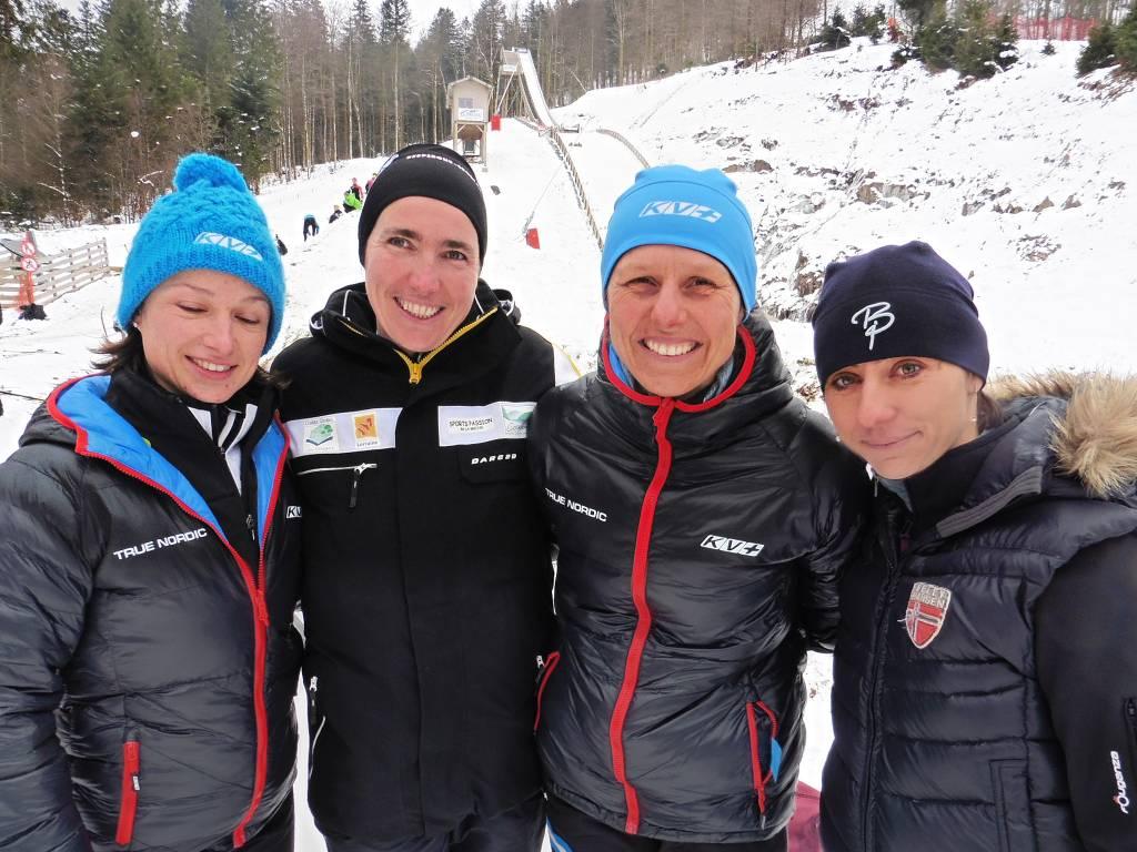 Anne-Laure Cuny-Prud'Homme 4e, Yolande Boissonnet 3e, Caroline Finance 1ère et Aurélie Jaeggy 2e.