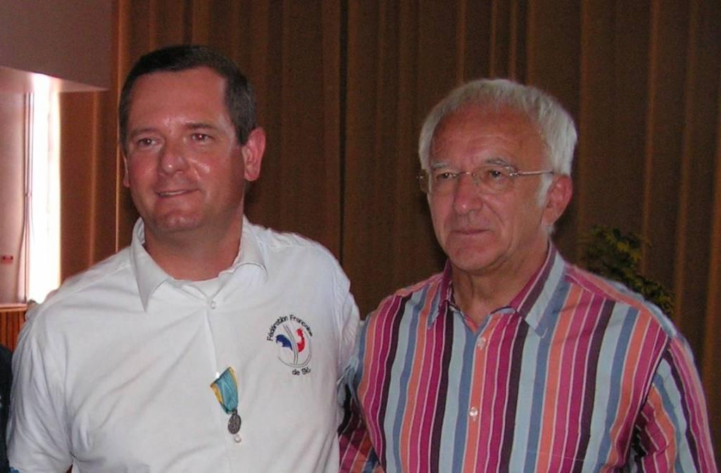Jean-Marc Villemin (à droite) avait succédé à Mathieu Kléthi le 13 novembre 2015. Photographie d'archives.
