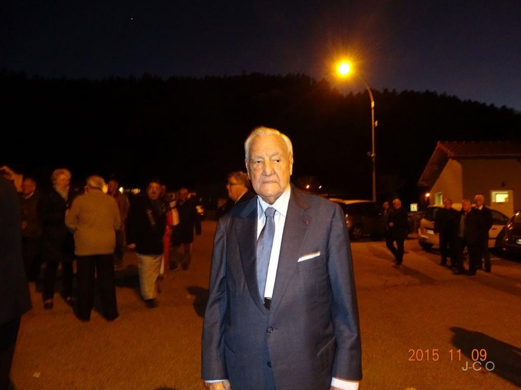 Un de ses dernières sorties publiques à Remiremont, le 9 novembre 2015.