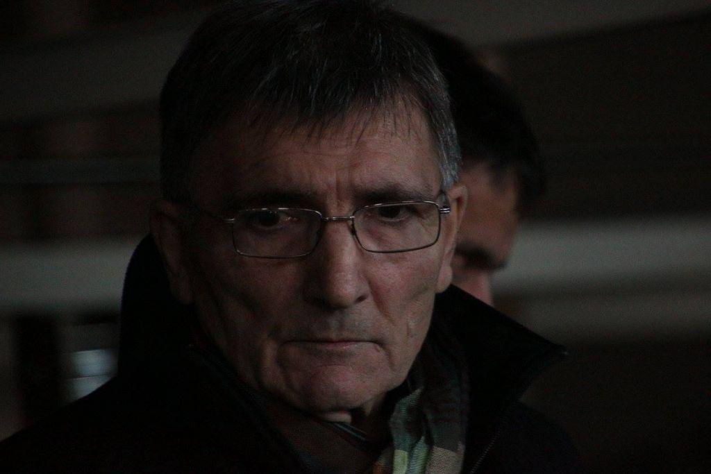 Jean-Claude Dousteyssier lors de la vente aux enchères de la ligne de production de FIBERS le 8 décembre 2015.