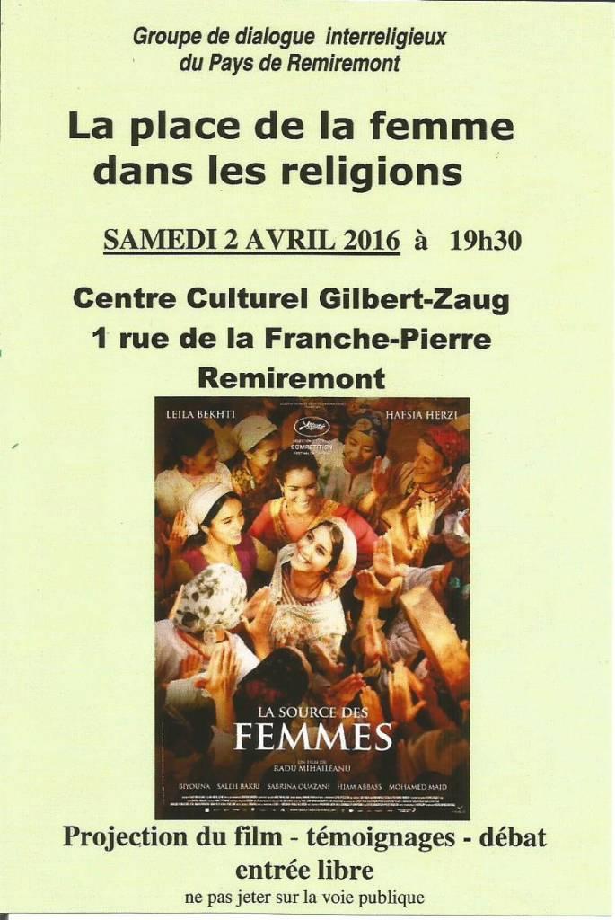 Flyer film La Source des Femmes