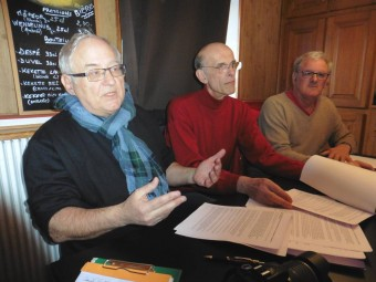 Dominique Humbert, Philippe Renahy et Roger Froissard.