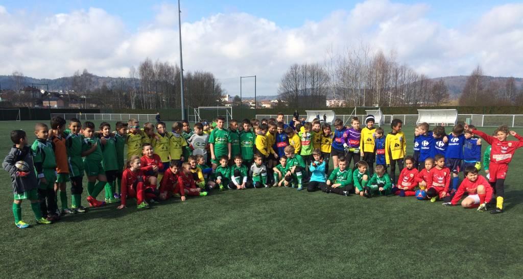70 futurs champions étaient réunis ce samedi au Bois des Petits pour le plateau U9.