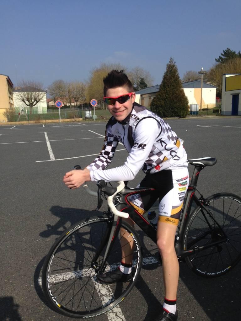 Lors du grand-prix de Dieuze, course UFOLEP, Virgile Petit entamait la saison en se classant 13ème en première catégorie.