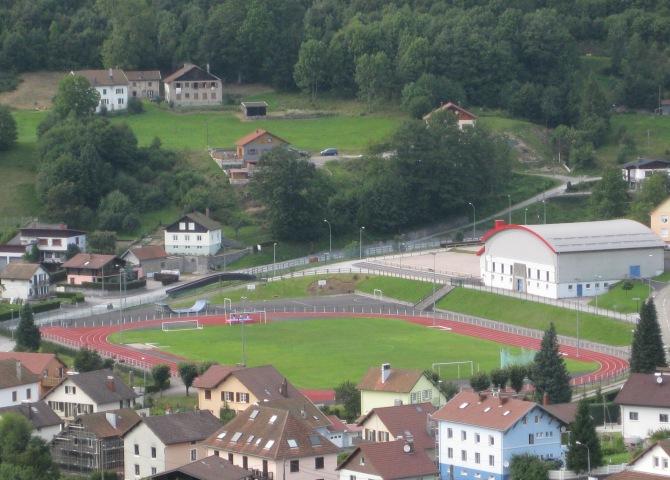 L'un des deux stades de La Bresse, celui de la rue des Champions.