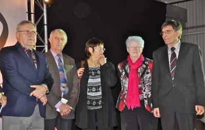 Guy Vaxelaire, à gauche lors de l'inauguration de Fibers en janvier 2014 aux côtés des élus de l'époque, avant les élections municipales de mars 2014.