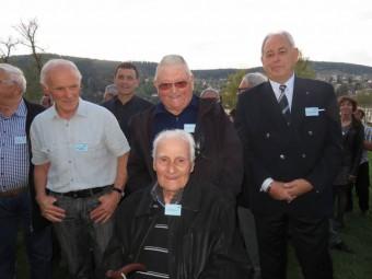 Jules Bocca entouré de Jean-Claude Barraud, Raymond Schmitt et Christian Petzl.