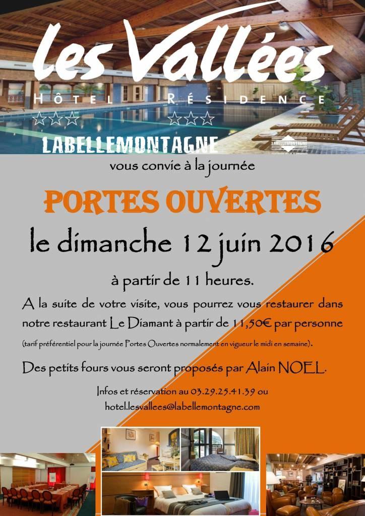 Portes Ouvertes à l'Hôtel Les Vallées le 12 juin !