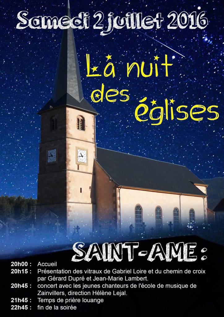 Affiche Nuit des églises 2 juillet 2016