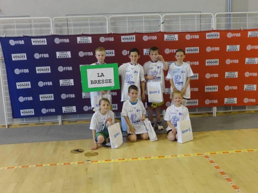 mini-basketteurs à Saint-Dié