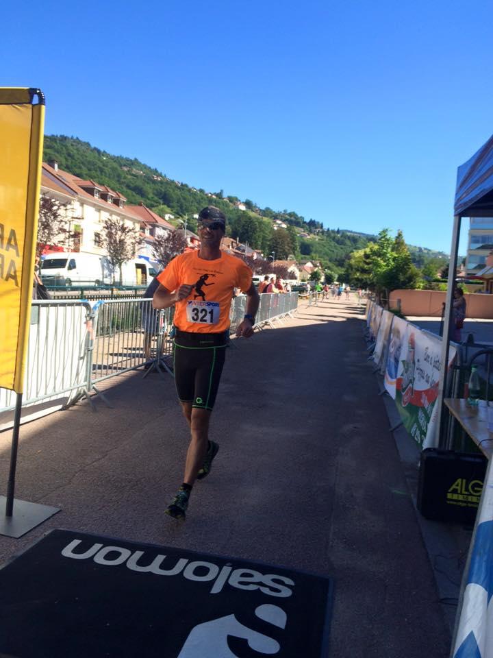 Adrien Mougel vainqueur à domicile de l'épreuve courte de 14 km.