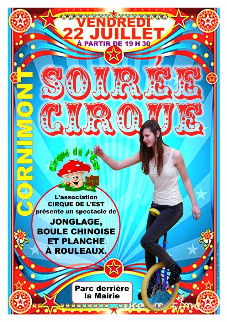 Affiche cirque 22 juillet