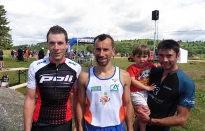 Guillaume Dussart 2e, Ludovic Laurent 1er et Francky Stéphan 3e.
