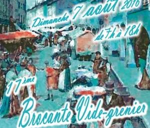 Vode-greniers, broc-à-brac rue Charles-de-Gaulle le 7 août