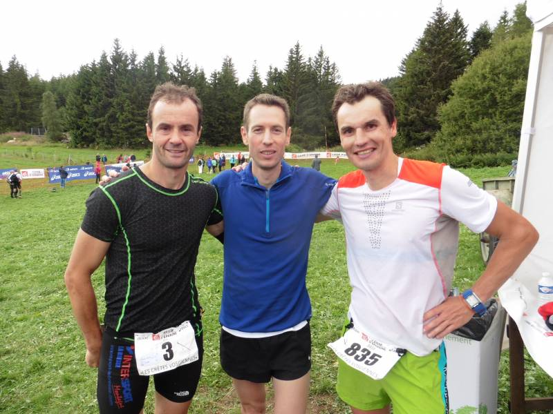 Hervé Mougel 3e, Julien Sapy 1er et Gary Assel 2e.