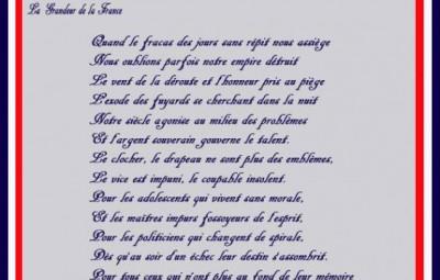 Poème du Vosgien Georges Dupont - Gaulliste 88