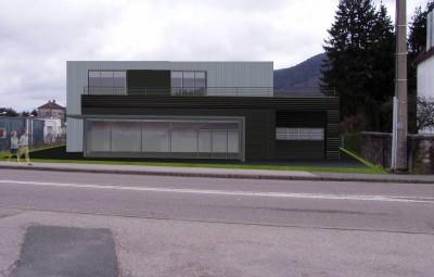 Vue 1 sur le projet (côté route)
