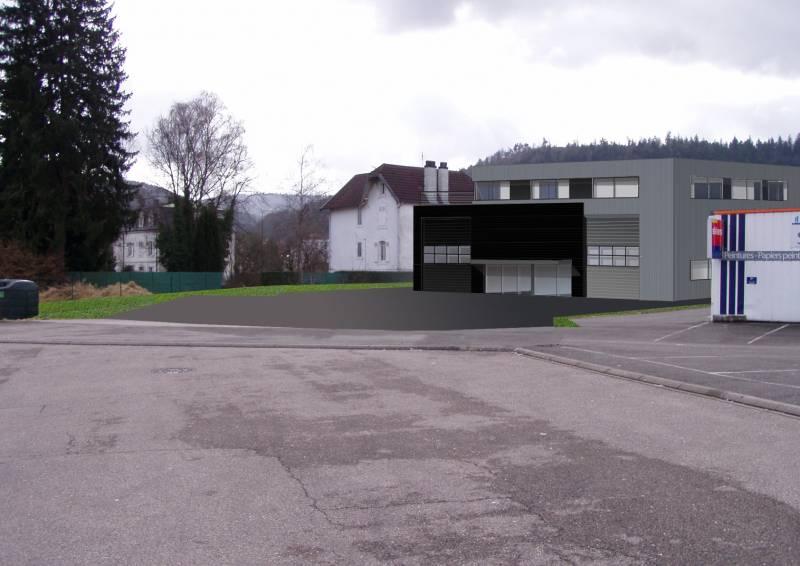 vue 2 sur le projet (côté parking)