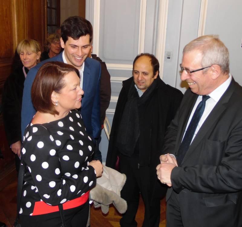 Bernard Godfroy avait réservé le Grand Salon de l'Hôtel de ville à Jean Hingray lorsqu'il avait reçu la député européenne Nathalie Griesbeck le samedi 23 janvier 2016. Photographie d'archives.
