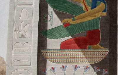 La déesse Maât, extrait de la Description de l'Egypte (1809-1828).