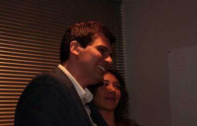 Jean Hingray avec Victoria, sa fiancée. Jean Hingray avec Victoria, sa fiancée.