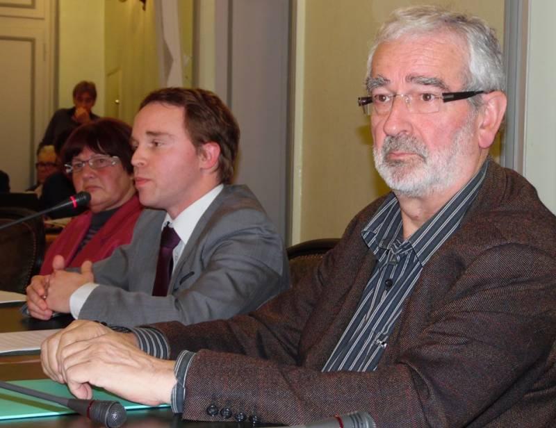 Michelle Tisserant, Jean-Benoît Tissserand et Jean-Claude Baumgartner.