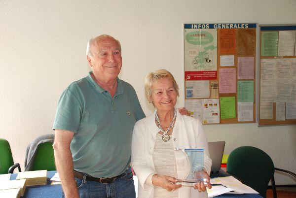 Le 3 juillet 2016, Yvelyne Le Marec a reçu un trophée de la Ligue de Lorraine de bridge.