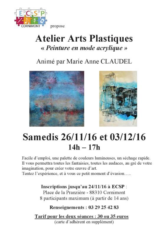 Flyer acrylique 2016
